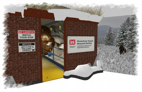 Permafrost Tunnel Entrance
