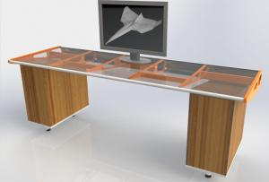 Paper Airplane Folding Station Desk